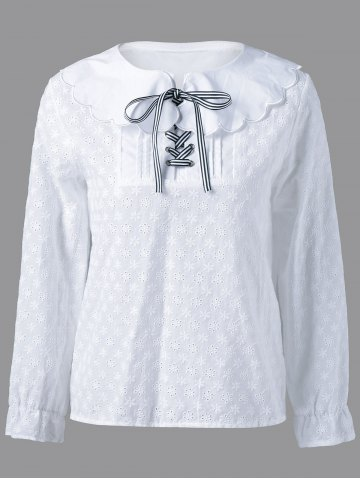 Outfit Peter Pan Collar Long Sleeve Blouse