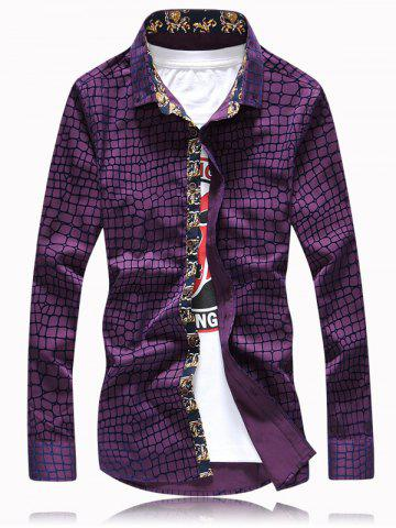 Outfit Checked Graphic Printed Long Sleeve Shirt