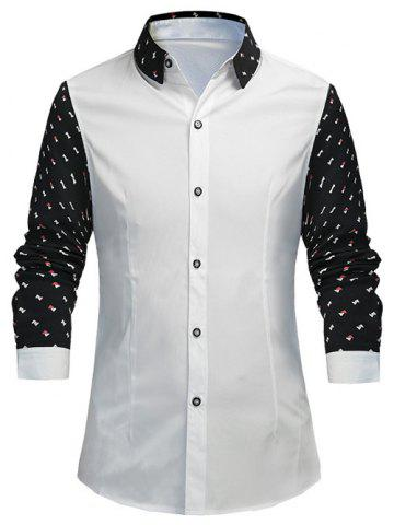 Fancy Triangle Pattern Slimming Long Sleeves Shirt