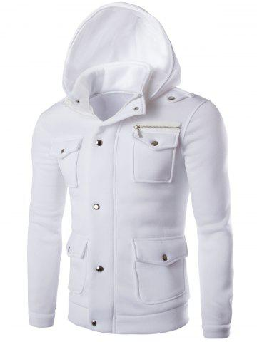 Store Long Sleeve Pocket and Zipper Design Hooded Jacket