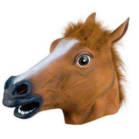 Hot Halloween Supply Party Cospaly Fur Mane Horse Head Mask - BROWN  Mobile