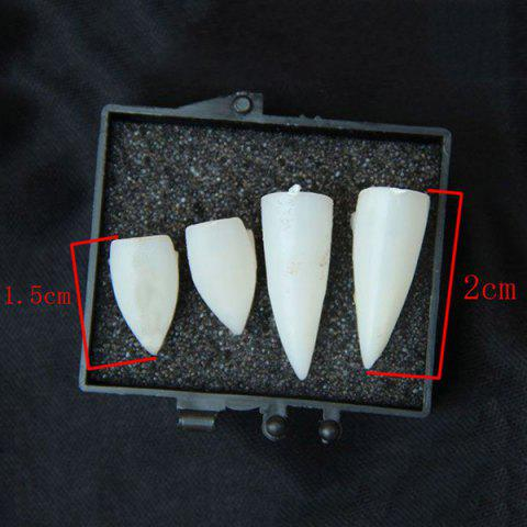 Cheap Halloween Party Supplies Gothic Vampire 4PCS Teeth Cosplay Prop - WHITE  Mobile