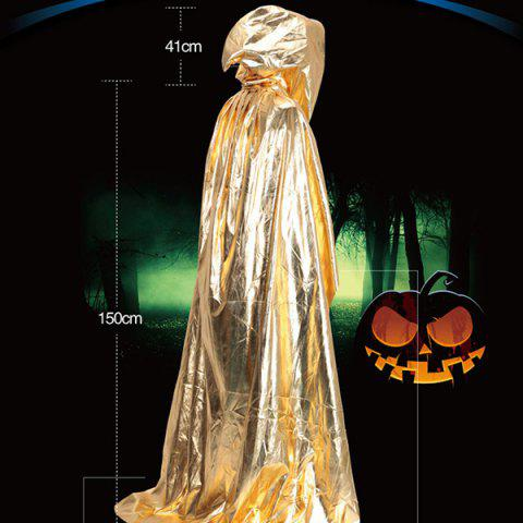 Outfit Halloween Party Supply Cosplay Death Hooded Cloak Costume GOLDEN