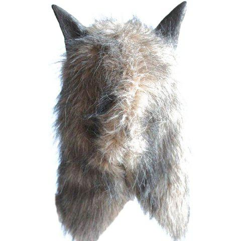 Chic Halloween Cosplay Supply Scary Wolf Head Mask Prop - GRAY  Mobile
