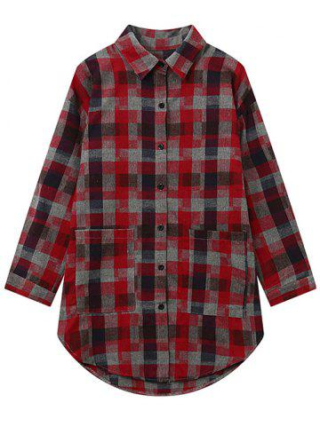 Buy Checked Plus Size Graphic Shirt