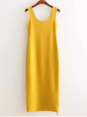Store Side Zipper Slimming Tank Dress