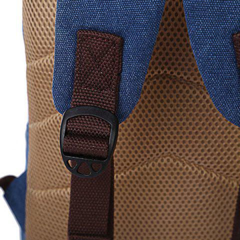 Fancy Concsie Zips Canvas Backpack -   Mobile