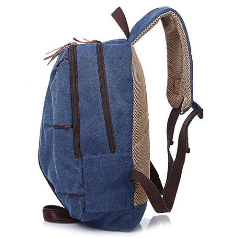 Online Concsie Zips Canvas Backpack -   Mobile