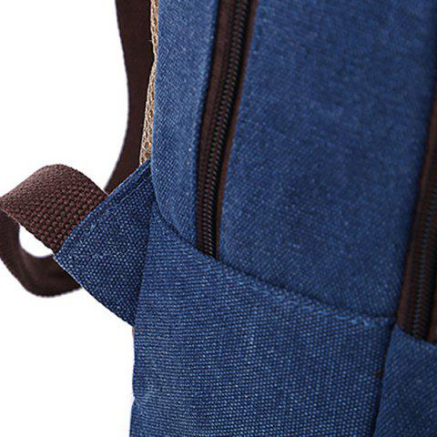 Outfits Concsie Zips Canvas Backpack -   Mobile