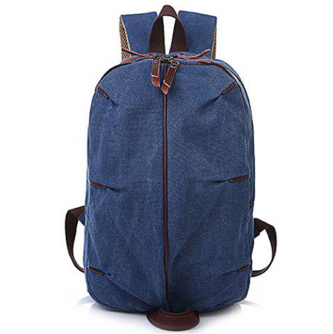 Outfit Concsie Zips Canvas Backpack -   Mobile