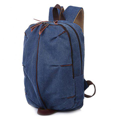 Fancy Concsie Zips Canvas Backpack