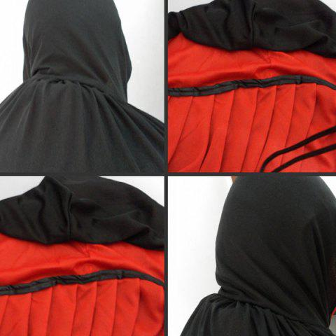 Outfit Hooded Cloak Cosplay Vampire Halloween Costume Supply - RED WITH BLACK  Mobile