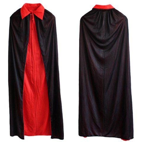 Latest Halloween Party AB Wear Cloak Death Cosplay Costume Supply - RED WITH BLACK  Mobile
