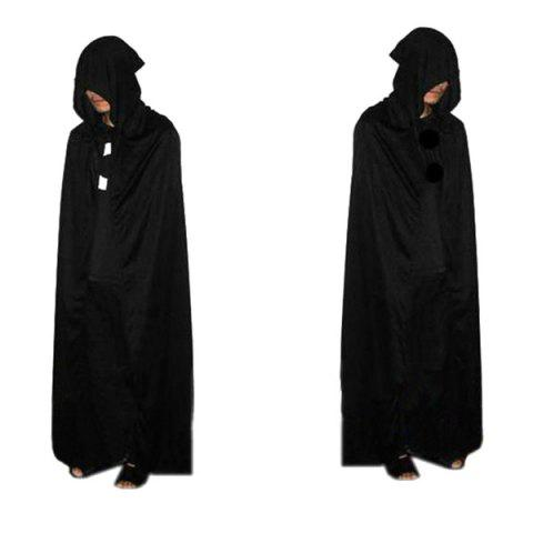 Halloween Party cosplay Hooded mort Costume Cape Noir