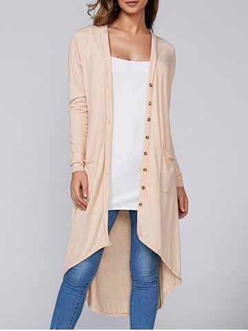 Shops Asymmetric Long Cardigan with Pockets