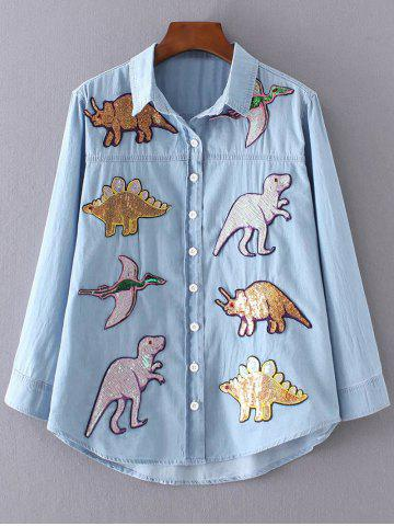 Discount Dinosaur Denim Shirt