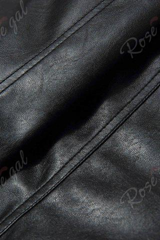 Store Faux Leather Shorts - M BLACK Mobile