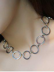 Alloy Circle Hollow Out Choker Necklace