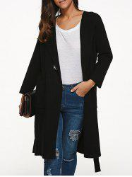 Knee Length Coat with Pockets -