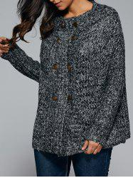 Double-Breasted Long Sleeve Cardigan -