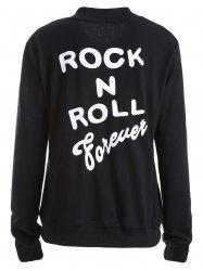 Rock N Roll Forever Graphic Bomber Jacket -
