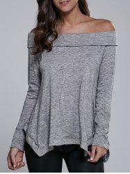 Off-The-Shoulder Asymmetrical Blouse -
