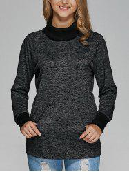 Raglan Sleeve Heathered Sweatshirt -