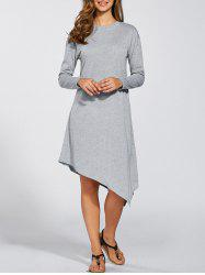 Long Sleeves Asymmetric Dress