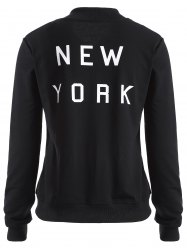 New York Print Zip Up Jacket -