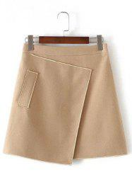 Applique Hidden Zipped Tweed Skirt -