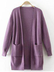 Pocket Design Textured Knitted Cardigan -
