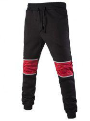 Color Block Spliced Lace-Up Jogger Pants