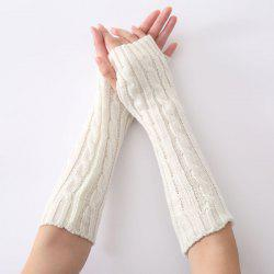 Christmas Winter Hemp Flowers Crochet Knit Arm Warmers -