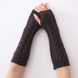 Christmas Winter Triangle Hollow Out Crochet Knit Arm Warmers