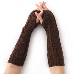 Christmas Winter Triangle Hollow Out Crochet Knit Arm Warmers -