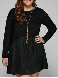 Pocket Design Ruched Plus Size Dress -