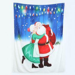 Christmas Happy Santa Claus Printed Beach Throw -