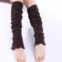 Christmas Winter Small Hemp Flowers Knit Leg Warmers