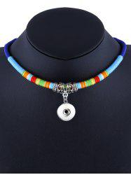 Emboss Alloy Ethnic Rope Pendant Necklace -