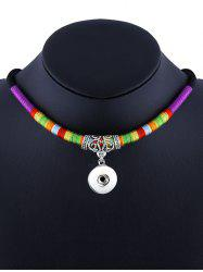 Engrave Alloy Ethnic Rope Pendant Necklace -