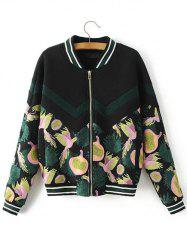 Vintage Bird Of Piece Embroidered Baseball Jacket -