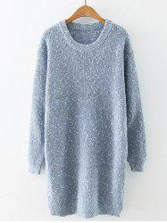 Preppy Style Fitted Warm Long Sweater - LIGHT BLUE ONE SIZE