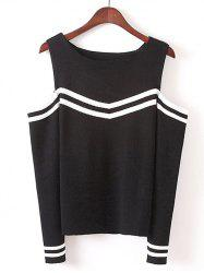 Stripe Design Slim Fit Knitted Tank Top -
