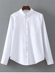 Button Down Long Sleeve Shirt with Pocket -