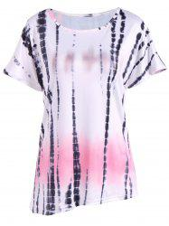 Casual Ink Painting Print Ombre Blouse