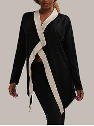 Color Block Patched Thick Coat -