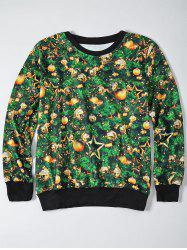 3D Christmas Tree Print Sweatshirt -