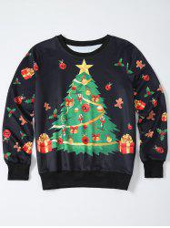 Christmas Tree Print Pullover Sweatshirt