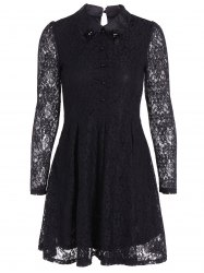 Slimming Long Sleeve Lace Dress