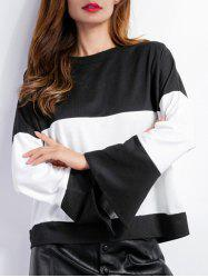 Color Block Bell Sleeves T-Shirt -